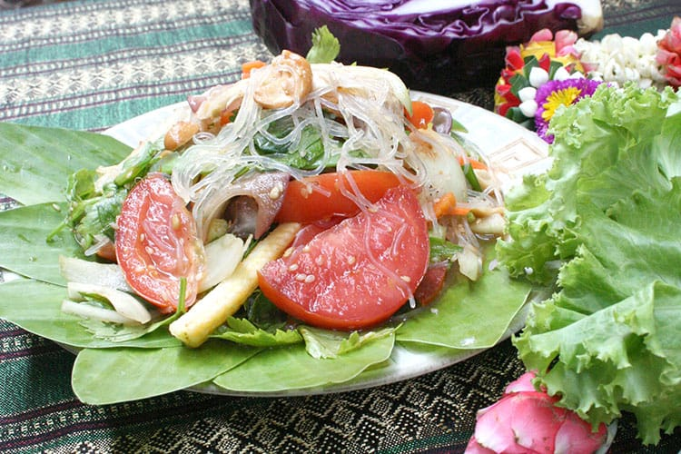 Spicy glass noodle salad.